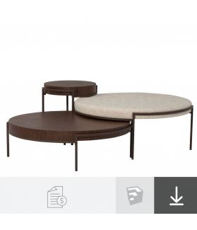Mesa e Puff Maldovia - A partir de R$3.160